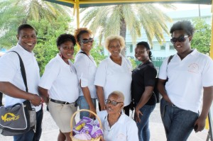 Volunteers from WAR and other civil society organizations in Antigua on GFCD!