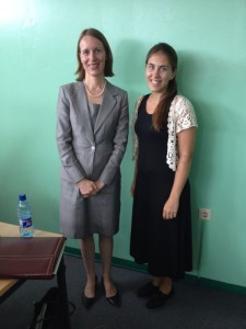 Me and Dr. Nicole Giles after the meeting between the LGBT platform and the representatives from the Canadian High Commission in Guyana